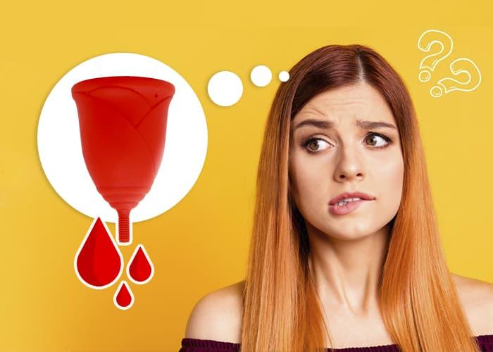 Pérdidas con la copa menstrual