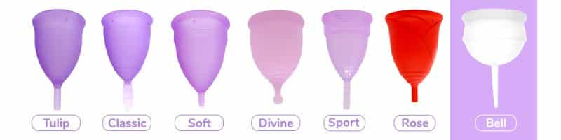 Modelos de copas menstruales sileucup