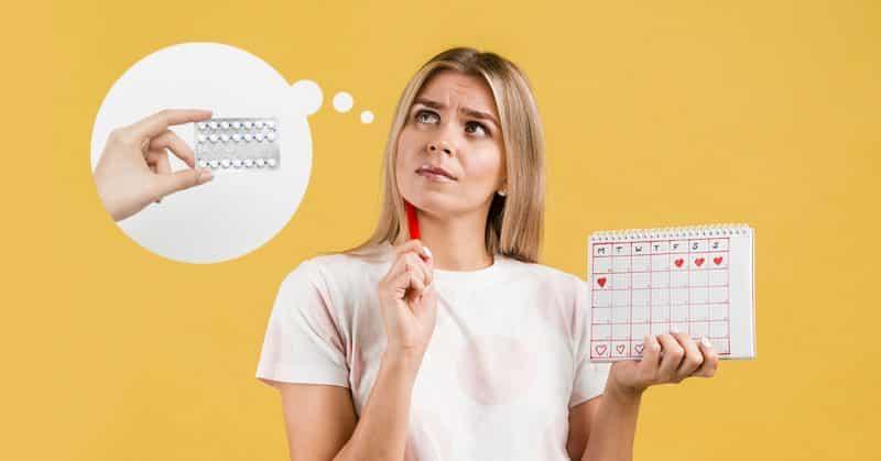 Adelantar regla con métodos hormonales